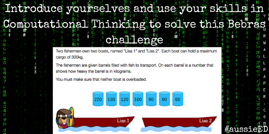 Solve this @BebrasChallenge - What is the maximum amount that can be carried in one trip? via @draketeach #aussieED http://t.co/sD85Cjuhy9