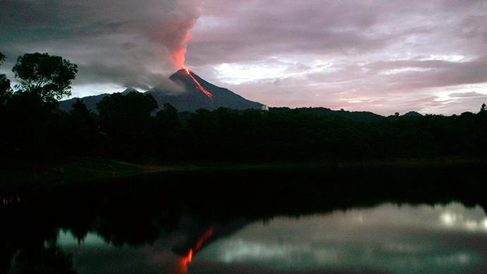 Vulcano Colima Messico Foto Video