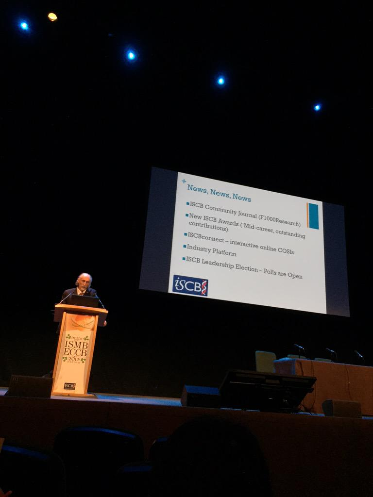 .@iscb Pres Alfonso Valencia introduced the Industry Platform. Come to our BoF Tues 12:45 #ismb2015 #ismbeccb2015 http://t.co/1C9xflptjp