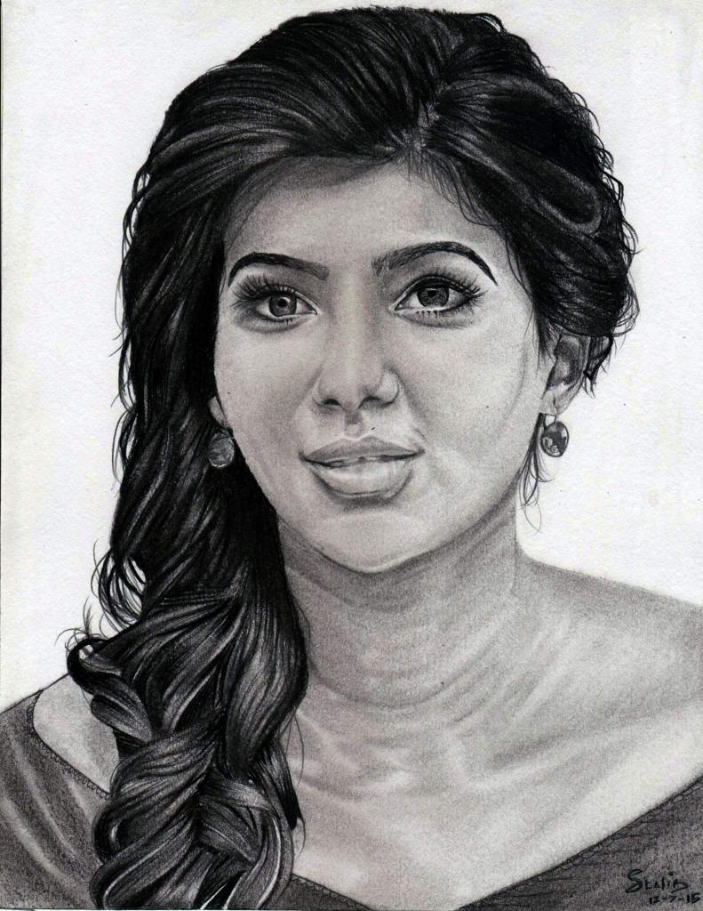 Stalin on twitter my pencil sketch of actress samantha