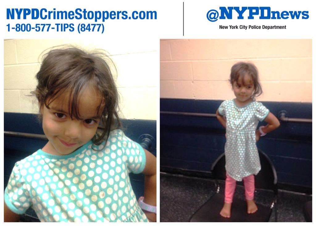 Help ID 3y/o Natalie: Abandoned at 281 St Nicholas Ave #Harlem. Person of interest: Stanley, 5'5' 180lbs. #800577TIPS