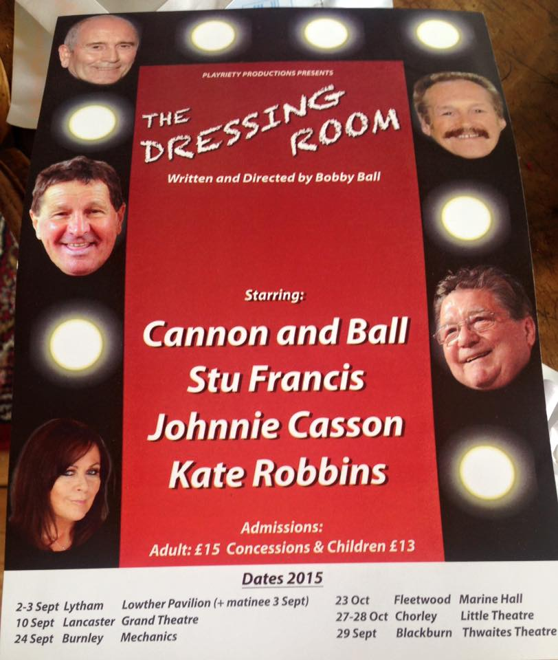 You'll find Me, @TheTommyCannon, @KateRobbins,@stufrancis1 and Johnnie Casson in 'The Dressing Room' later this year! http://t.co/Y2eqTKTWGA