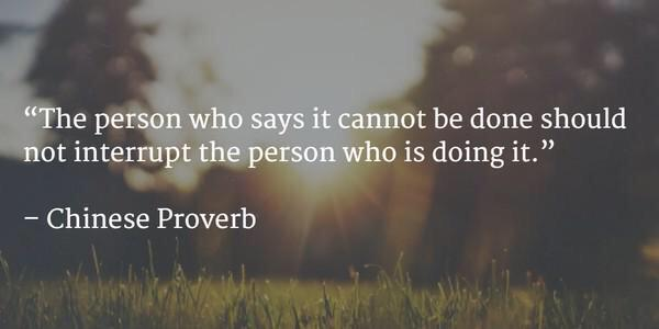 """The person who says it can't be done should not interrupt the person doing it."" #startups #innovation #sxswv2v http://t.co/9xNH9eqxWP"