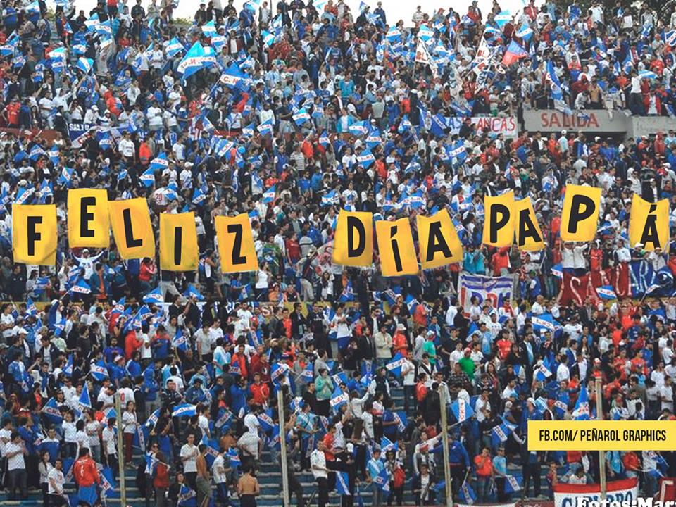Nacional saluda a Peñarol en el día del padre