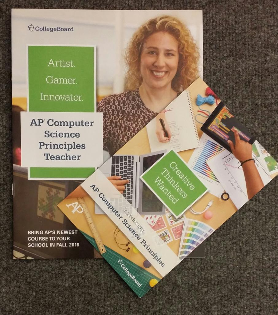 Check out the #APCSP swag at #CSTA15! http://t.co/vBoxNVxuDk #TeachCSP #breakingbarriers #inspire #connect #discover http://t.co/PGrXv1ChTg