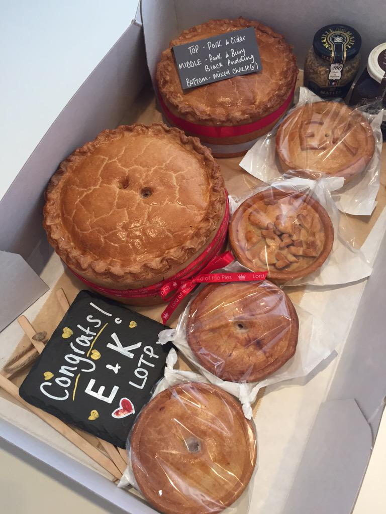 Lord Of The Pies On Twitter Our 3 Tier Personalised Pork Pie Wedding Cake For The Happy