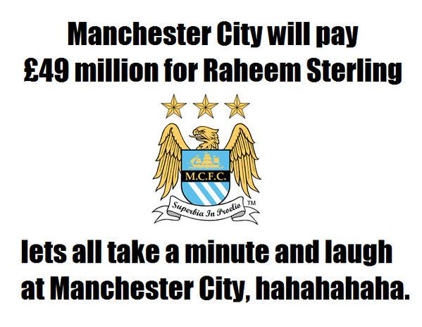 RT if you are laughing at Man City