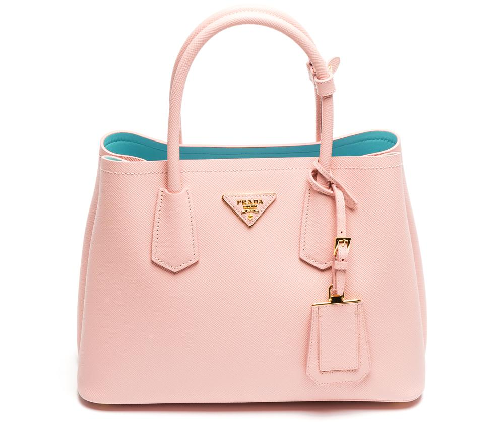 0959045408c1 ... cuir double b8412 856fd wholesale were crushing on the stunning colors  of the prada double bag in saffiano d7119 9a2c4 ...