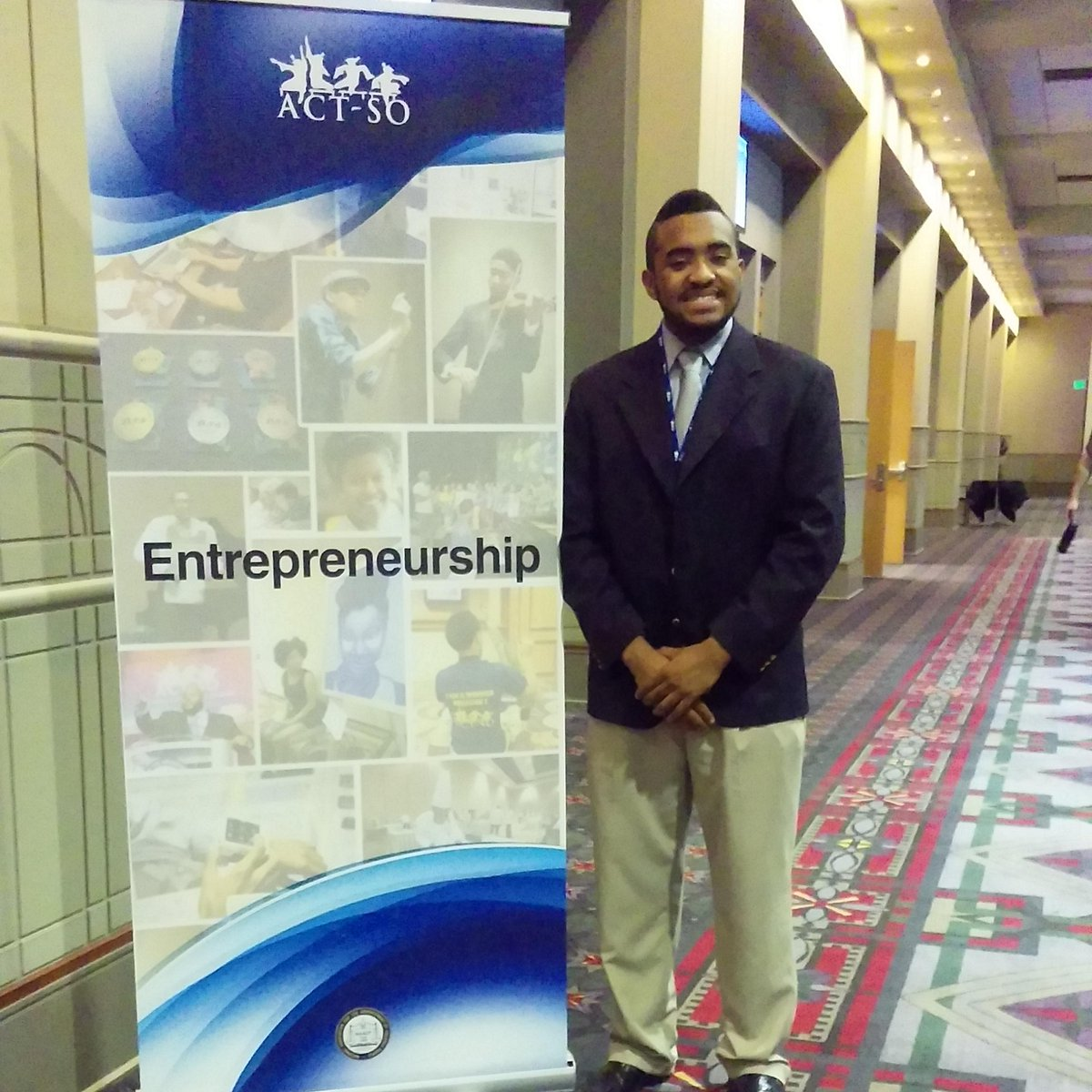 Thank The Lord! We are so proud of our Silver Medalist! Our Entrepreneur Mr. Eric Witherspoon! #ACTSO #saactso2015 http://t.co/GRr5wCAr4Y