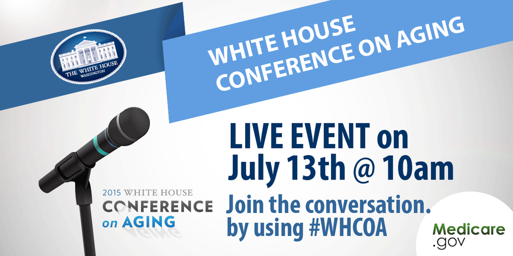 Speakers & Agenda posted for @WhiteHouse #Aging Conference w/ @POTUS! http://t.co/I98zt9yGKo #WHCOA http://t.co/A2y58nX3Z4