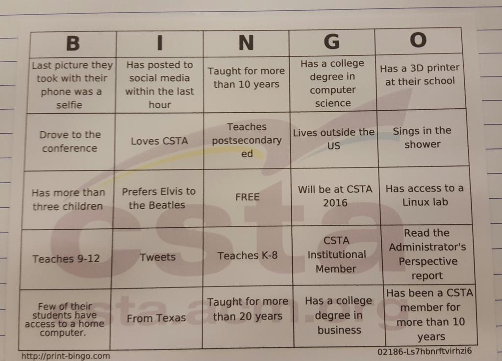 #csta15 Bingo! http://t.co/LoCgutwzjS