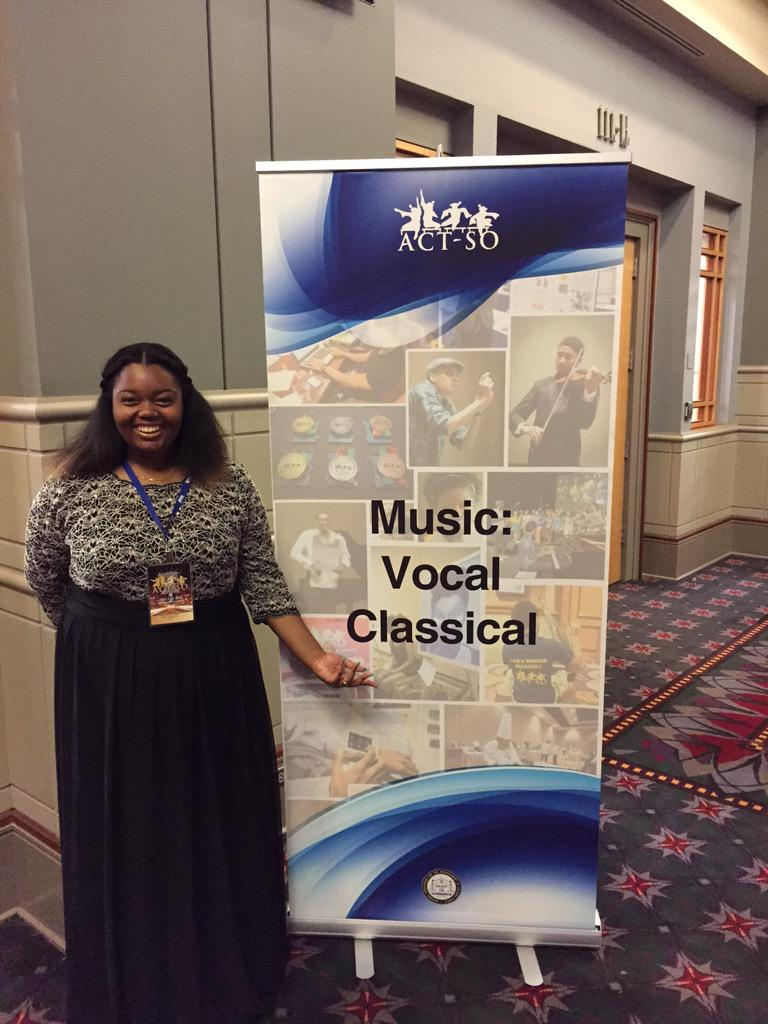#ACTSO Olympian Milan McCray just got the GOLD in Vocal Classical. She is a student at Fort Academy of Fine Arts. http://t.co/vCsklEVtCt