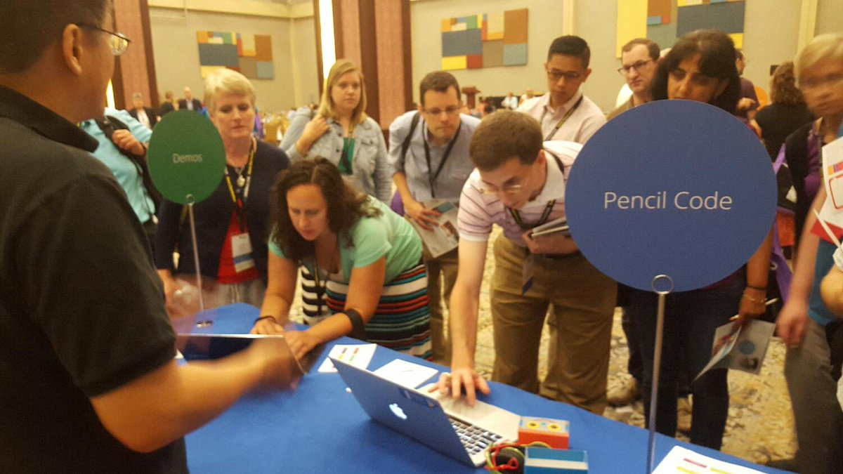 Google explaining their new #PencilCode programming environment here at #csta15 http://t.co/QcZy5brs1O