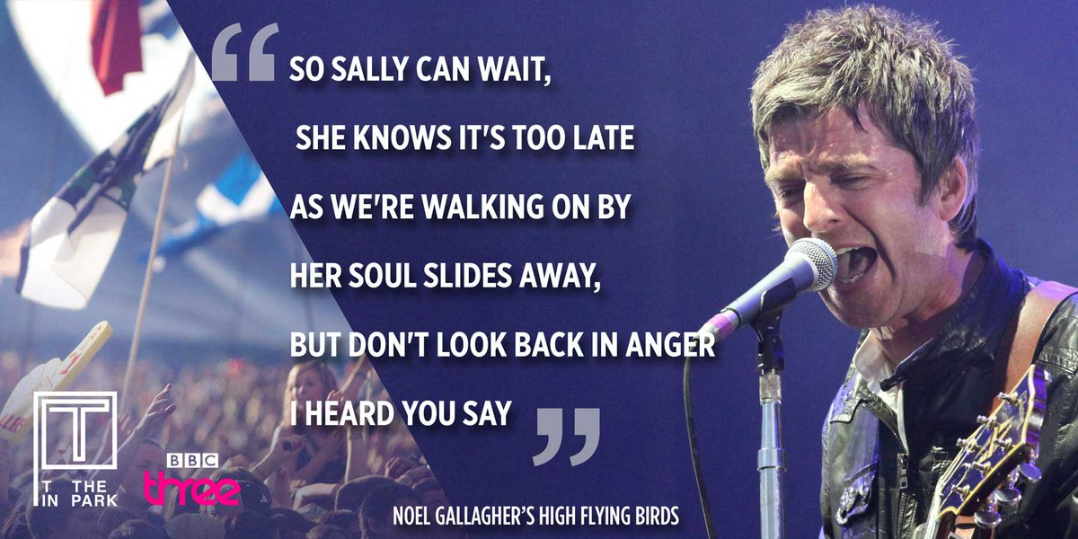 Words can't express how truly great this song is. YES NOEL! #DontLookBackInAnger @NoelGallagher
