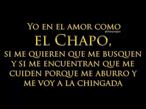 Sencillo, en el amor como el #Chapo ... http://t.co/nMGm1TZTyw