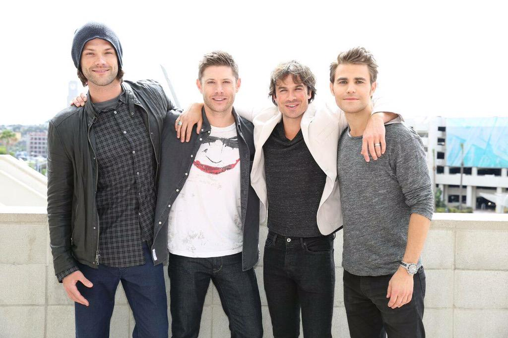 Dean, Damon, Stefan and Sam! http://t.co/y7Vy85Kq82