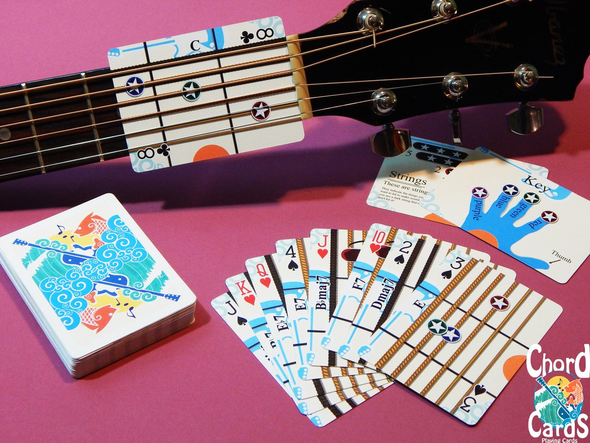 Chord Cards Playing Cards That Teach You To Play Guitar