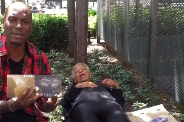 Tyrese used a passed out homeless lady to promote his album; says she's 'sleeping on R&B' http://t.co/NejVn3B4PF
