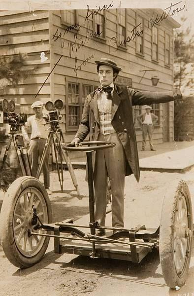 Buster Keaton riding the first Segway.