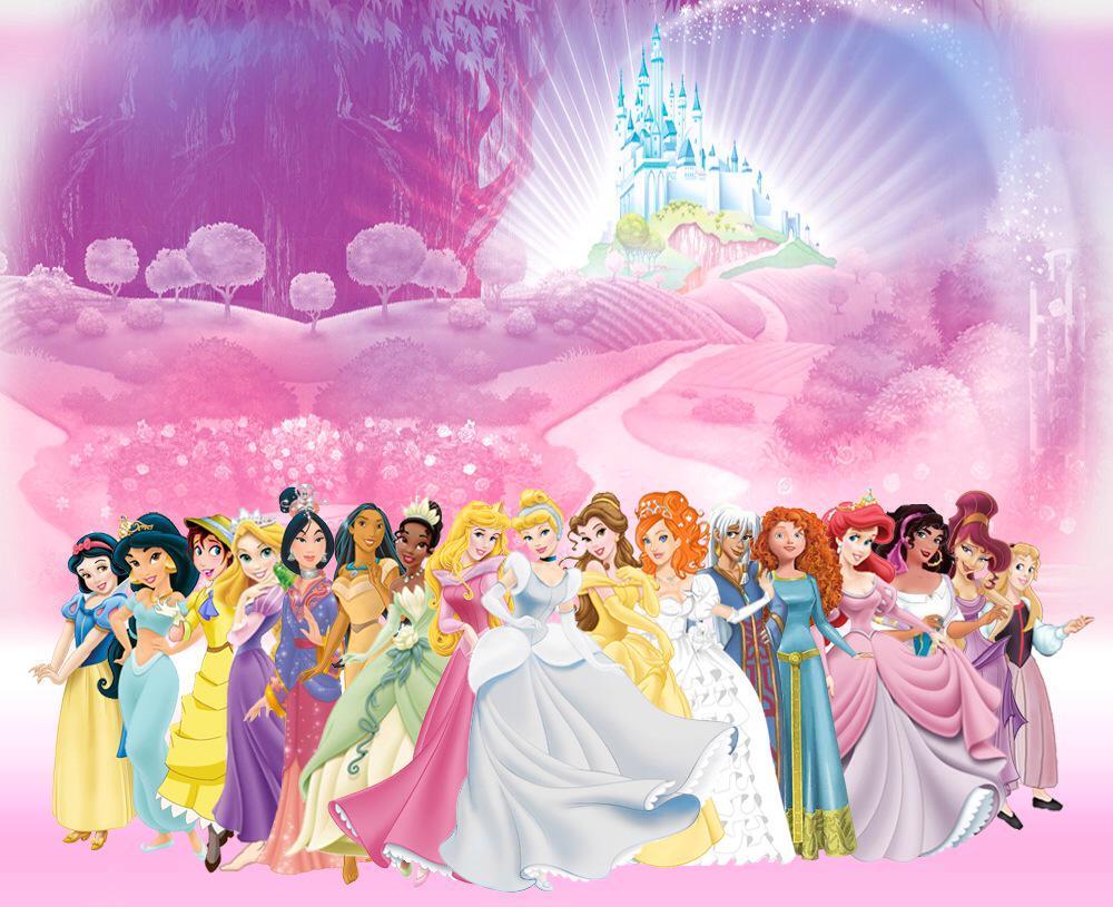 Днем, открытки принцессы диснея