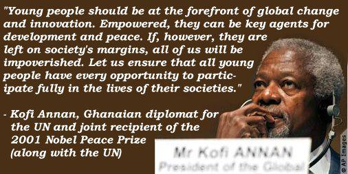 Kofi Annan Jul Worldyouthskillsday Kofi Annan Inspiring