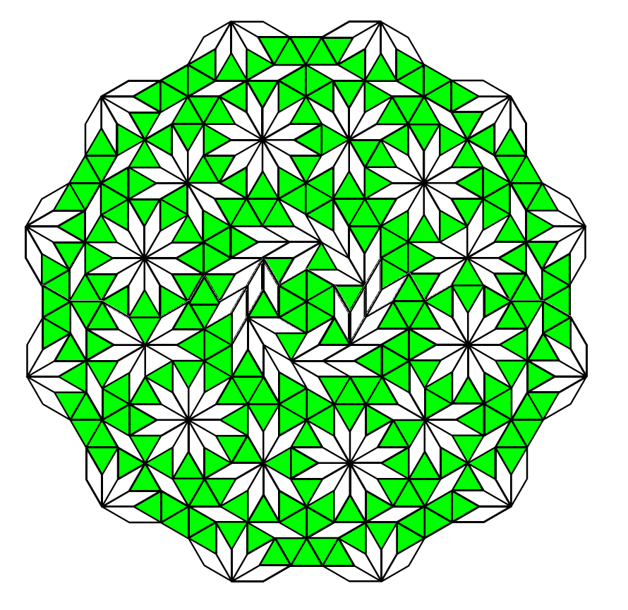Green and white pattern blocks with dodecagons @druizaguilera @CcBcnMvd @mathhombre #symmetry #mathphoto15 http://t.co/j9apCGBIEK