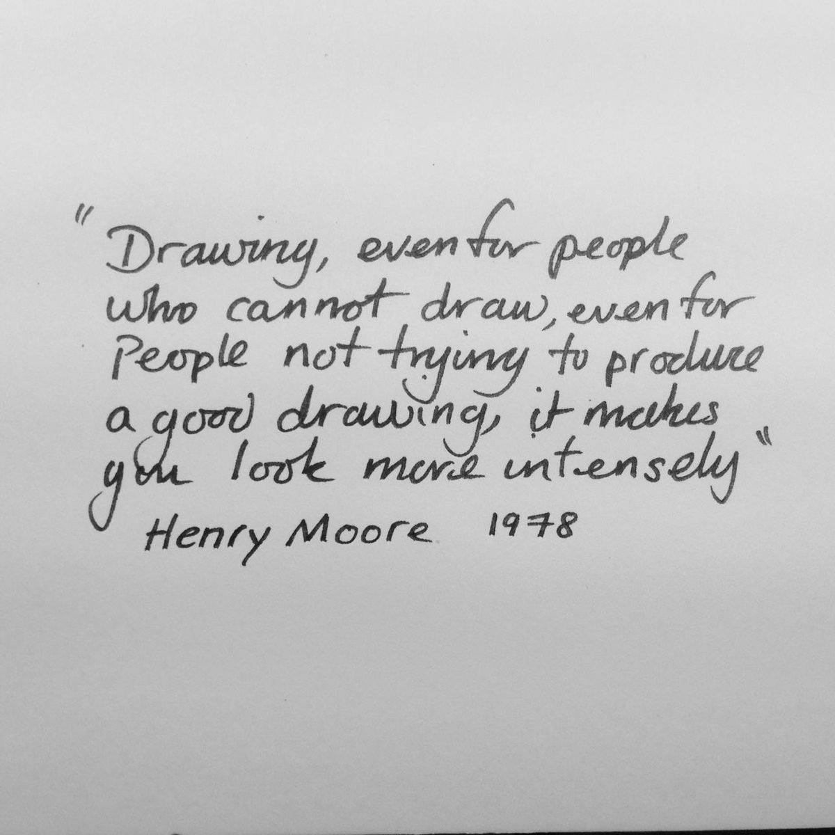 Excellent quote by Henry Moore @waddesdon_manor about #drawing #BigDraw #draw http://t.co/eCdxfMZYC3