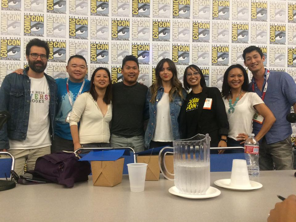 An amazing lineup at the #sdcc Super Asian America Panel this weekend. On the far left @gregpak is wearing our shirt! http://t.co/R2uBOb7TYF