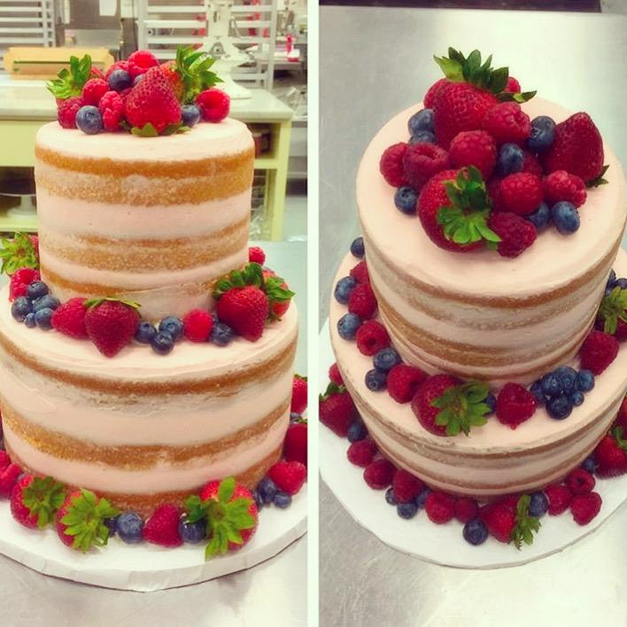 Magnolia Bakery on Twitter Naked cake with buttercream frosting