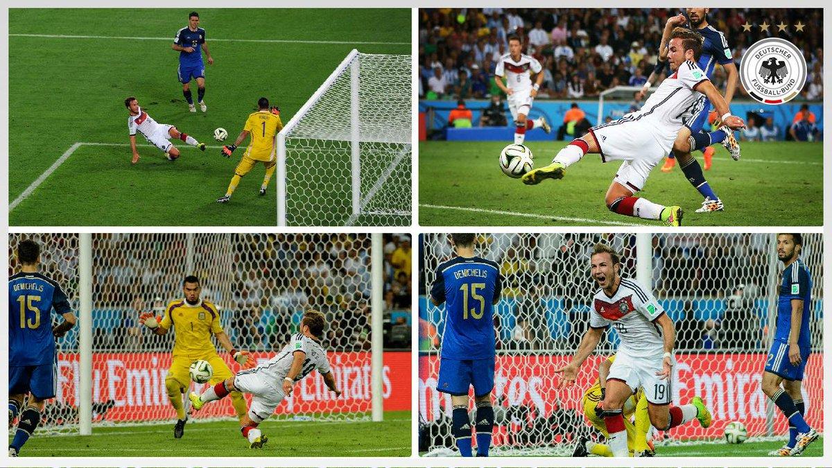 113 GÖÖÖÖÖTZE... GOOOAAALLL for Germany - @MarioGoetze has bloomin done it!!! #2014WorldCup #DFBhistory #GERARG 1-0