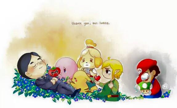 Today we mourn the loss of Mr. Iwata, but celebrate his inspiration to us all. #ThankYouIwata http://t.co/pokCz51vrM http://t.co/CzhfO4wy1b