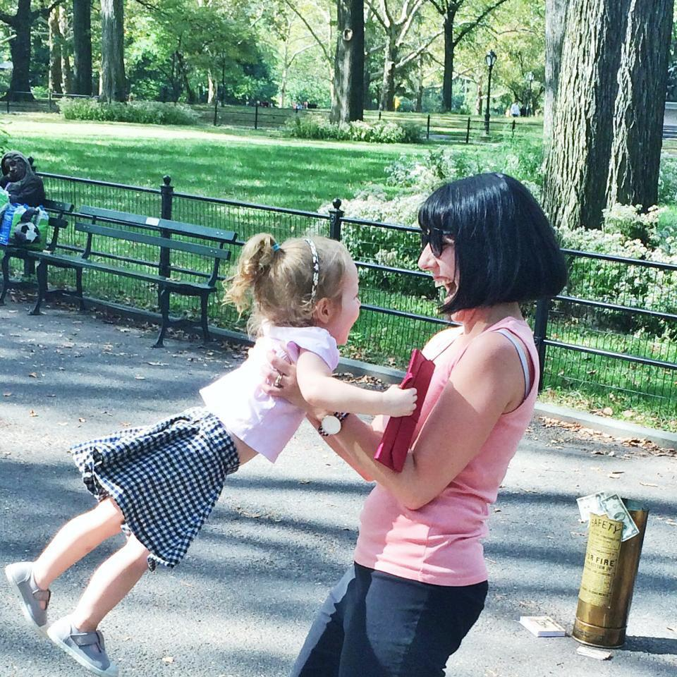 Shoshi and I took a spin around @CentralParkNYC. Note firm grip around purse. 💗🌿#love#happiness #family #PrimeLiving