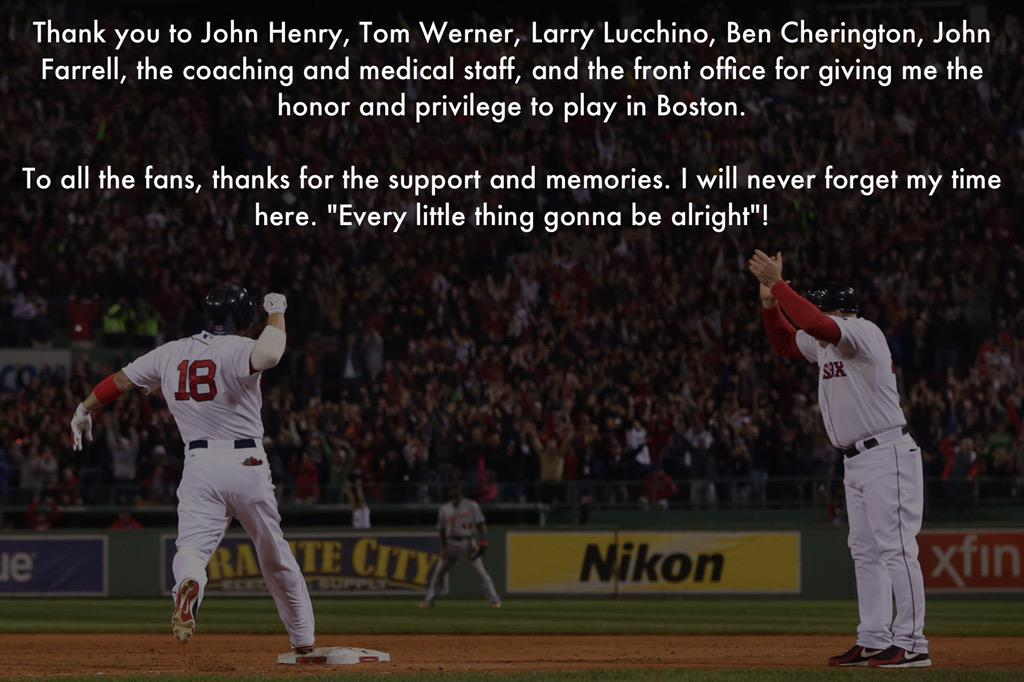 Thank you, #RedSoxNation! http://t.co/3gBEhw9O6X