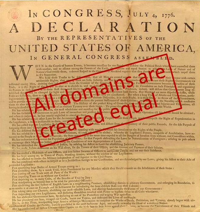 all domains are equal