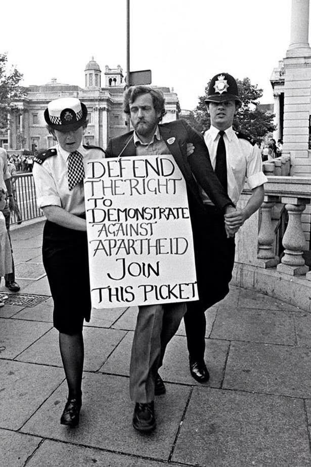 RT @40Karrots: When Thatcher was calling Mandela a terrorist, Corbyn was arrested for protesting outside SA embassy #Jeremy4Leader http://t…
