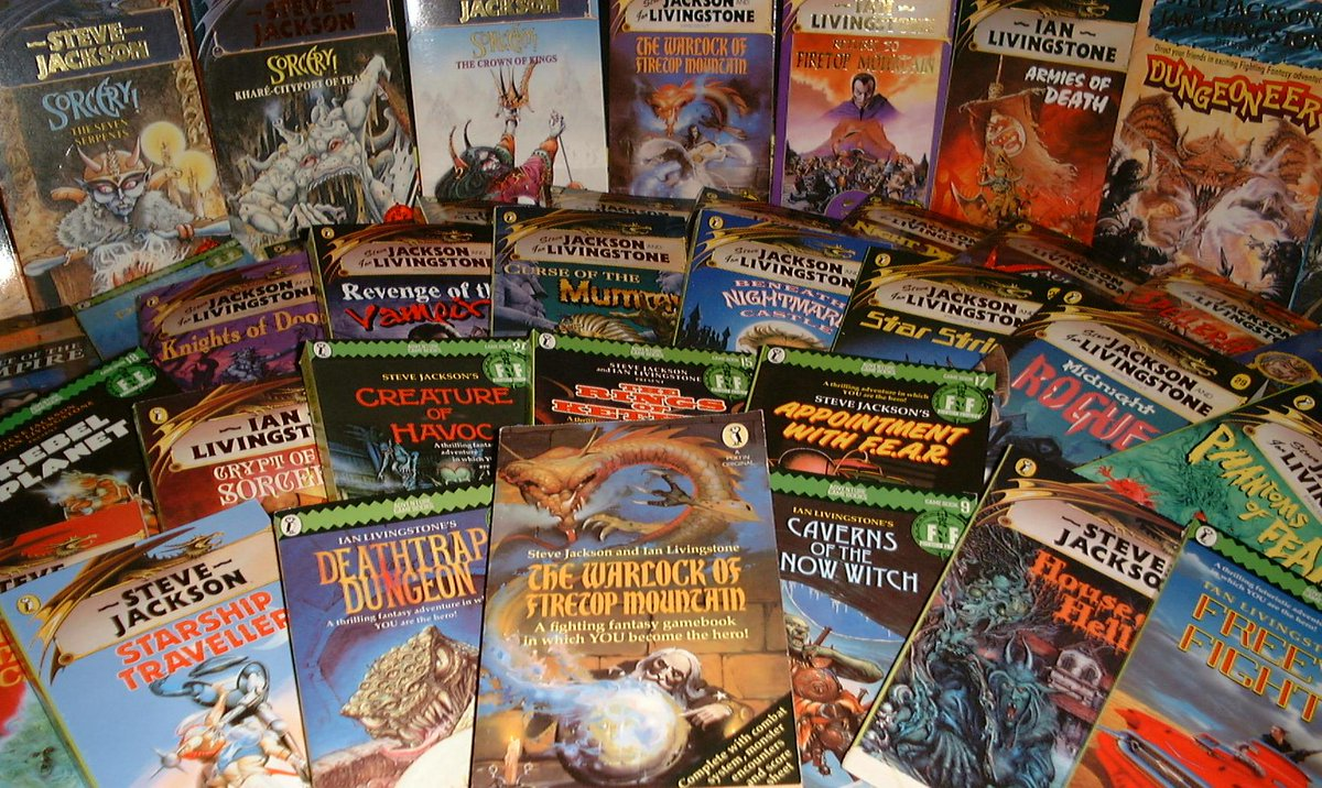 Ian Livingstone On Twitter Looking At My Fighting Fantasy Bookshelf Freeway Fighter And Temple Of Terror Two Mine From 1985