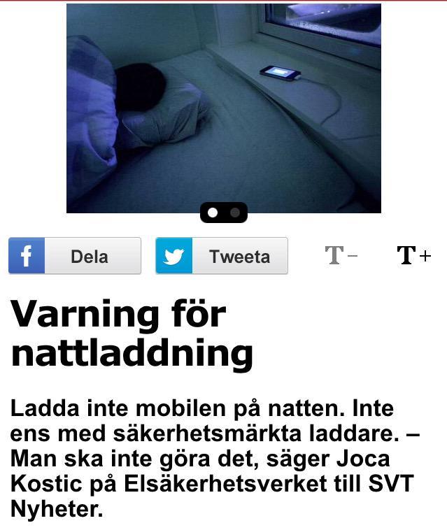 Varning for nattladdning