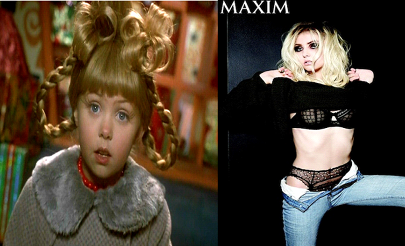 where are they now on twitter taylor momsen 22 today cindy how the grinch stole christmas lead singer in the pretty reckless gossip girl - Taylor Momsen How The Grinch Stole Christmas