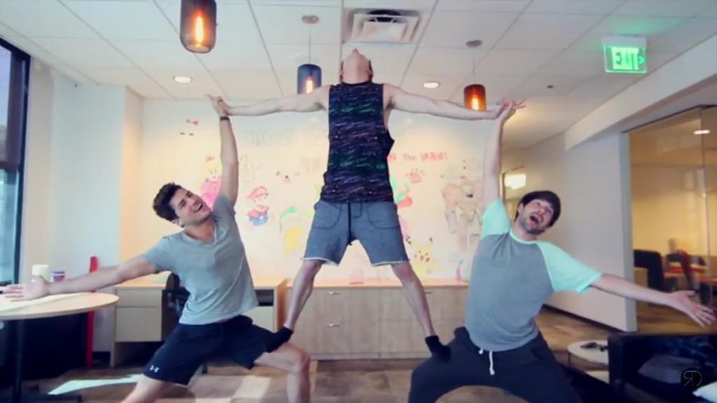 3 person yoga