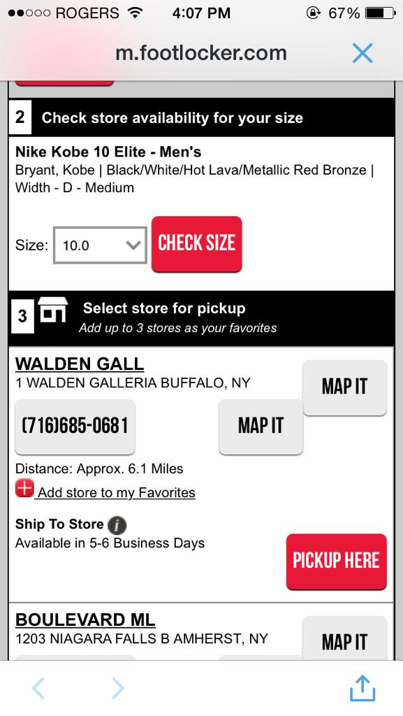 Foot Locker On Twitter At Rozay13 When You Select Store Pick Up It