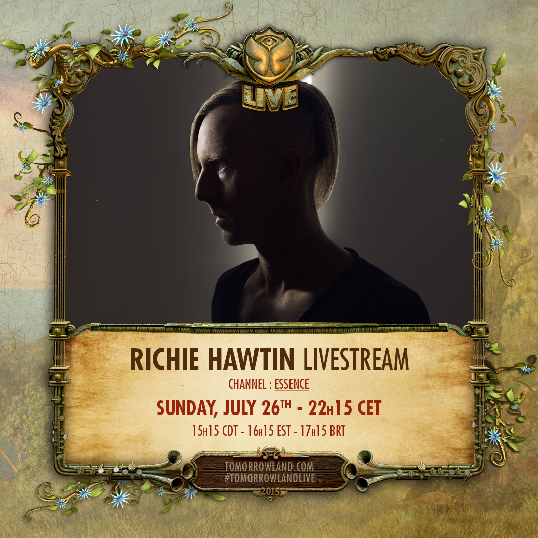 @richiehawtin broadcasting live from the @minusinc Stage @tomorrowland now http://t.co/ep0XviikmN (Essence Channel 3) http://t.co/58HCUjqLEK