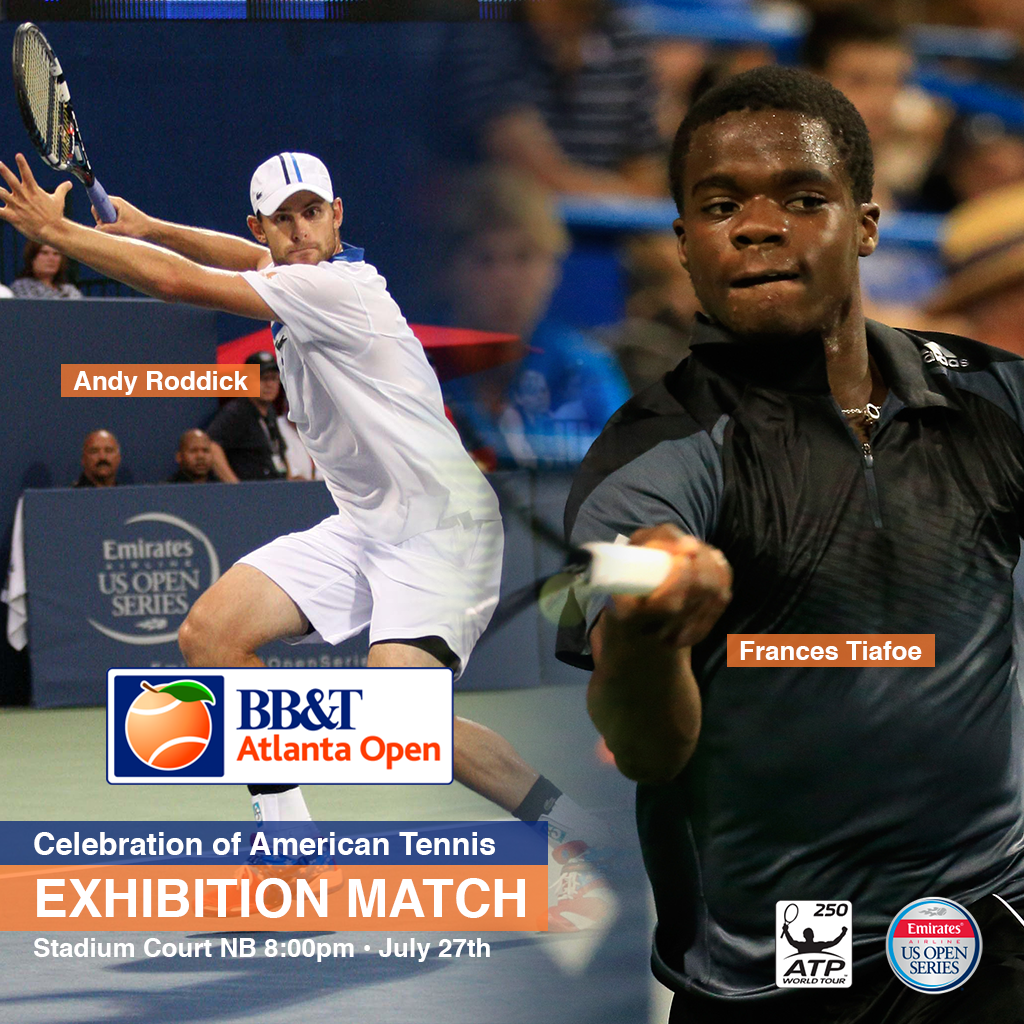 .@FTiafoe and @andyroddick will play an exhibition Monday NB 8pm. Get your tickets here: http://t.co/mnXJeflxuB http://t.co/mQqRrr7yu6