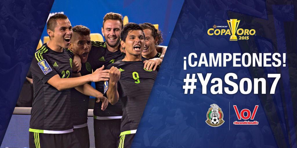 [Final] México campeón de la Copa Oro 2015