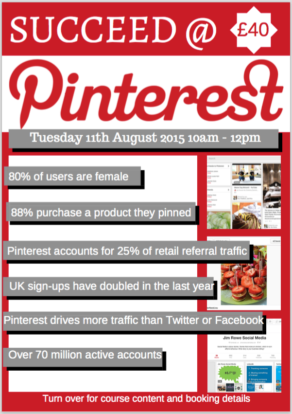 Struggling with #pinterest. £40 gets you 2 hours of training and our FREE pinterest #growthhacking guide. http://t.co/vDZsRwdi6t