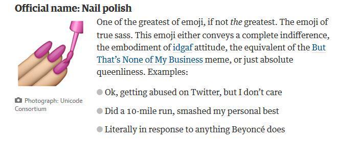 nail polish emoji 100 absolute cycle