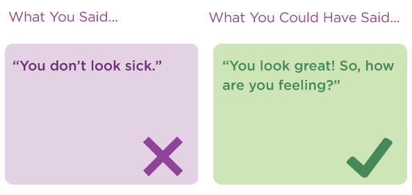 11 things you should never say to someone with #multiplesclerosis. http://t.co/N7z7LukNCZ http://t.co/uFHmOQakwT