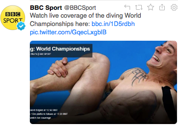 Was this the best image for the diving @BBCSport? http://t.co/hsxs1Gg7PZ