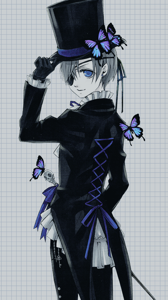 N O Z 9516 On Twitter Ciel Phantomhive Phone Wallpapers