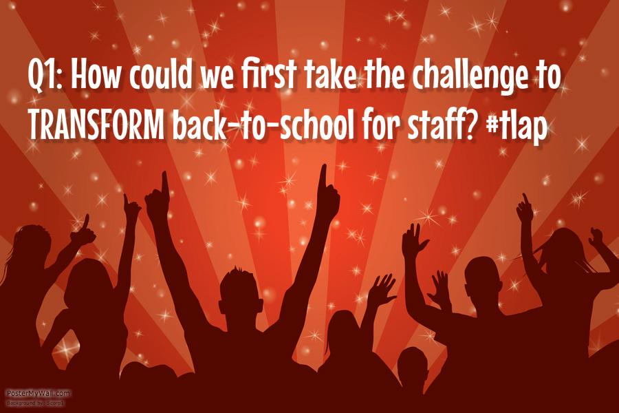 Q1: Let's start with staff learning! @jaybilly2 @burgessdave @burgess_shelley #tlap http://t.co/1ULemrH84C