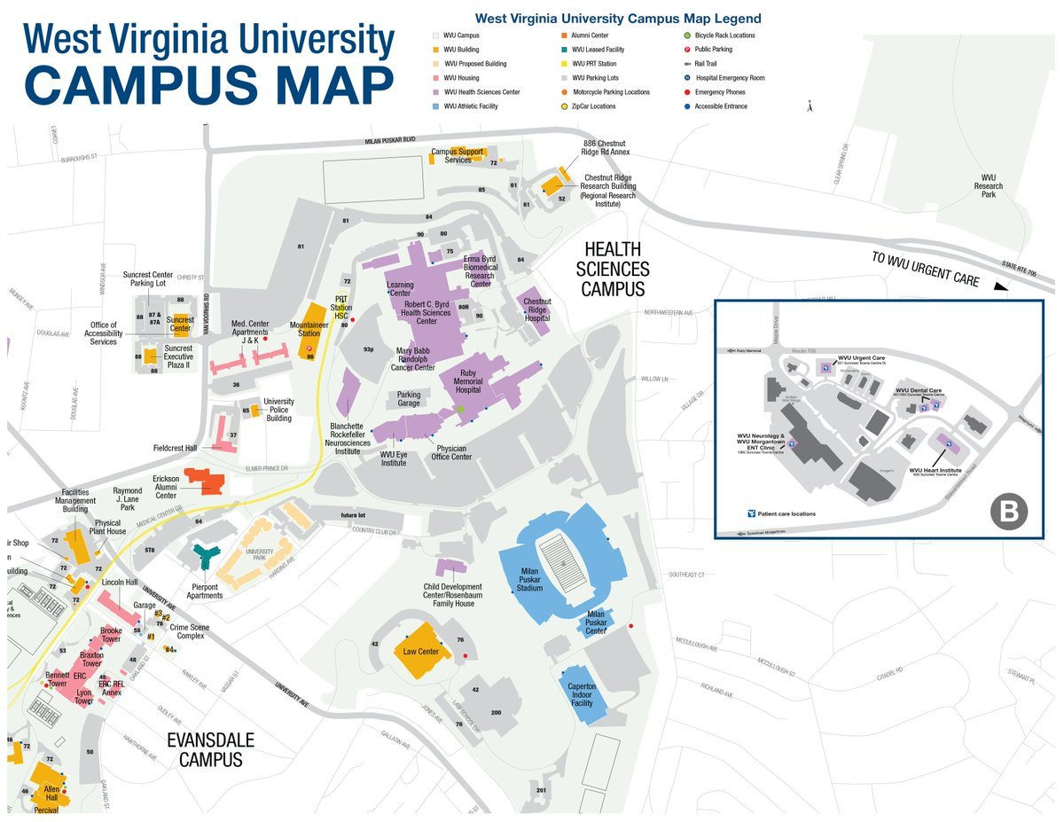 Wvu Eberly College On Twitter Wvu19 Check Out These Campus Maps